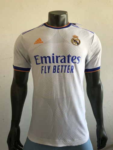 2021 2022 REAL MADRID HOME PLAYER VERSION (1) SOCCER JERSEY SHIRT