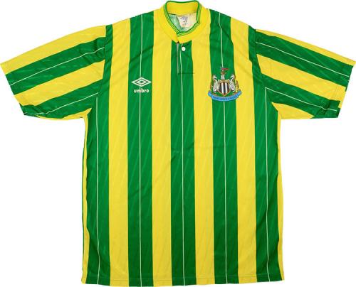 Newcastle 88/90 Away Green/Yellow Soccer Jersey