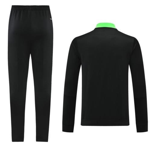 Manchester Utd 20/21 Tracksuit - Black/Green