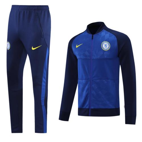 Chelsea 20/21 Tracksuit - Dark Blue/Blue