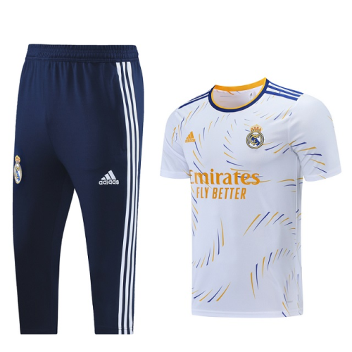 Real Madrid 21/22 White Training Kit Jerseys