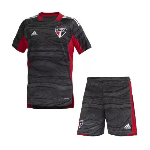 Kids-Sao Paulo 21/22 GK Black Soccer Jersey