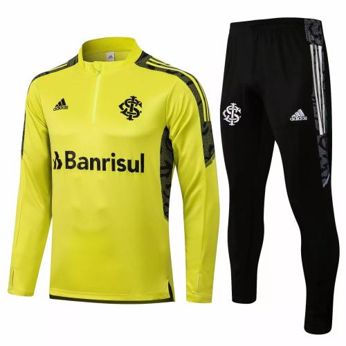 Mens S. C. Internacional Training Suit Yellow 2021/22
