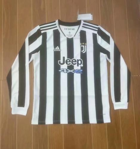 Juventus 21/22 Home Long Soccer Jersey