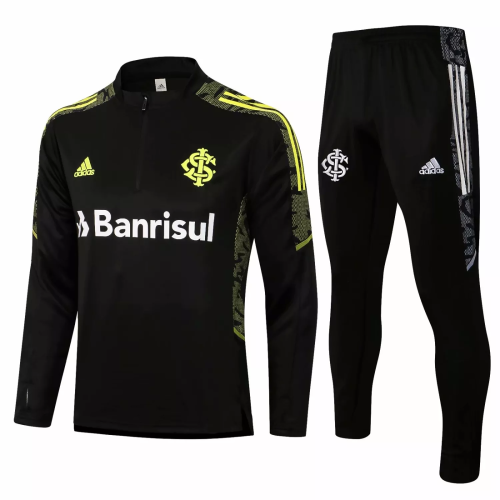 Mens S. C. Internacional Training Suit Black 2021/22