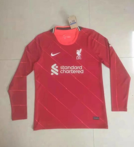 Liverpool 21/22 Home Long Soccer Jersey