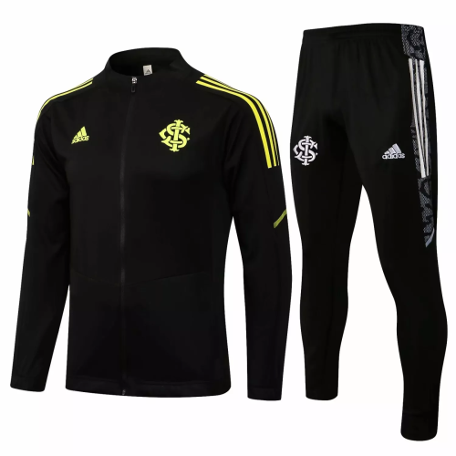 Mens S. C. Internacional Jacket + Pants Training Suit Black 2021/22