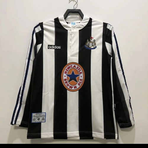 Newcastle 95/97 Home Long Soccer Jersey