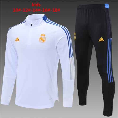Kids Real Madrid 21/22 Trackusit - White/Orange