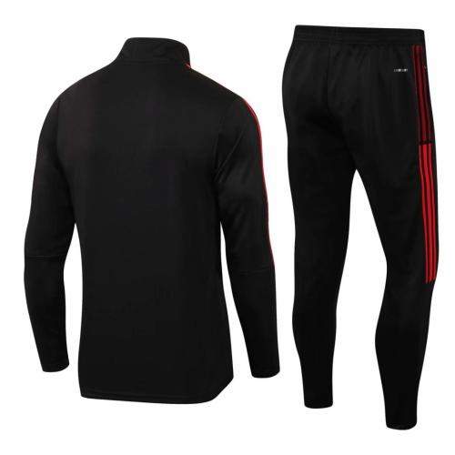 Bayern Munich 21/22 Tracksuit - Black/Red