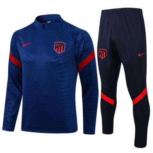Atletico Madrid 21/22 Tracksuirt - Dark Blue/Red