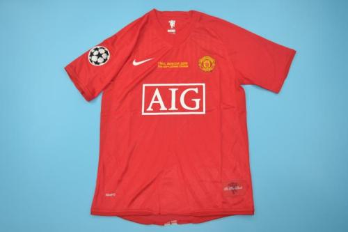 Manchester Utd 07/08 Home UCL Final Jersey