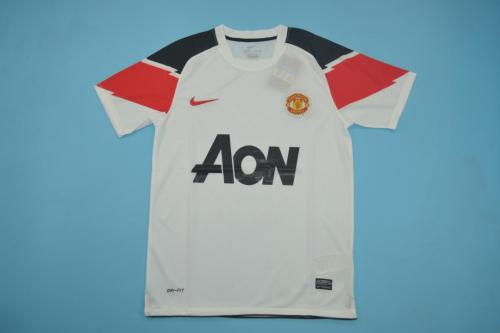 Manchester Utd 10/11 Away White Soccer Jersey
