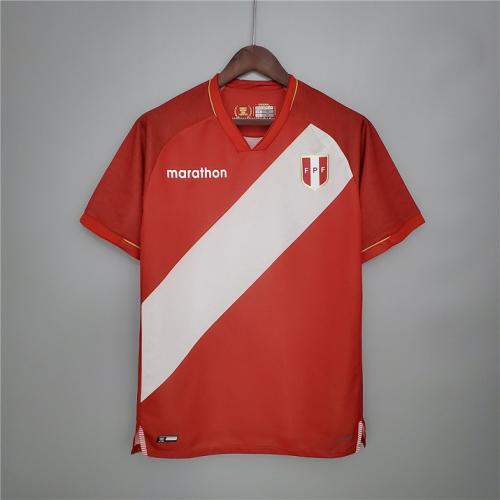 Peru 20/21 Away Red Soccer Jersey