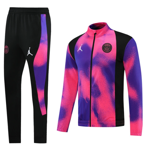 PSG 21/22 Jordan Pink-Purple Men Jacket Tracksuit Slim Fit