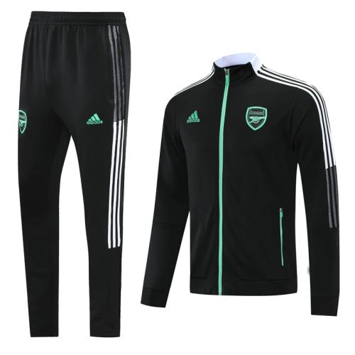 Arsenal 21/22 Black(knitting)  Men Jacket Tracksuit  Slim Fit