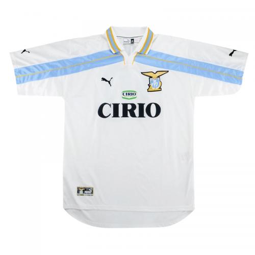 Lazio 99/00 Away White Soccer Jersey