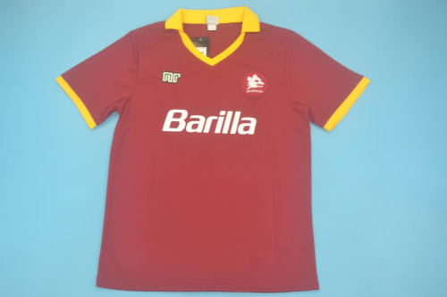 Roma 89/90 Home Soccer Jersey