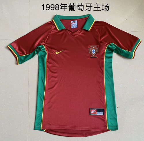 Portugal 1998 Home Soccer Jersey