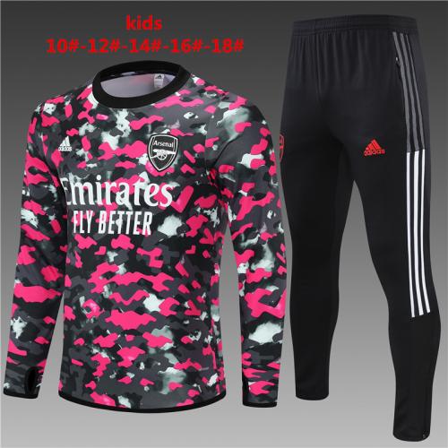 Kids Arsenal 21/22 Tracksuit - Pink/Black