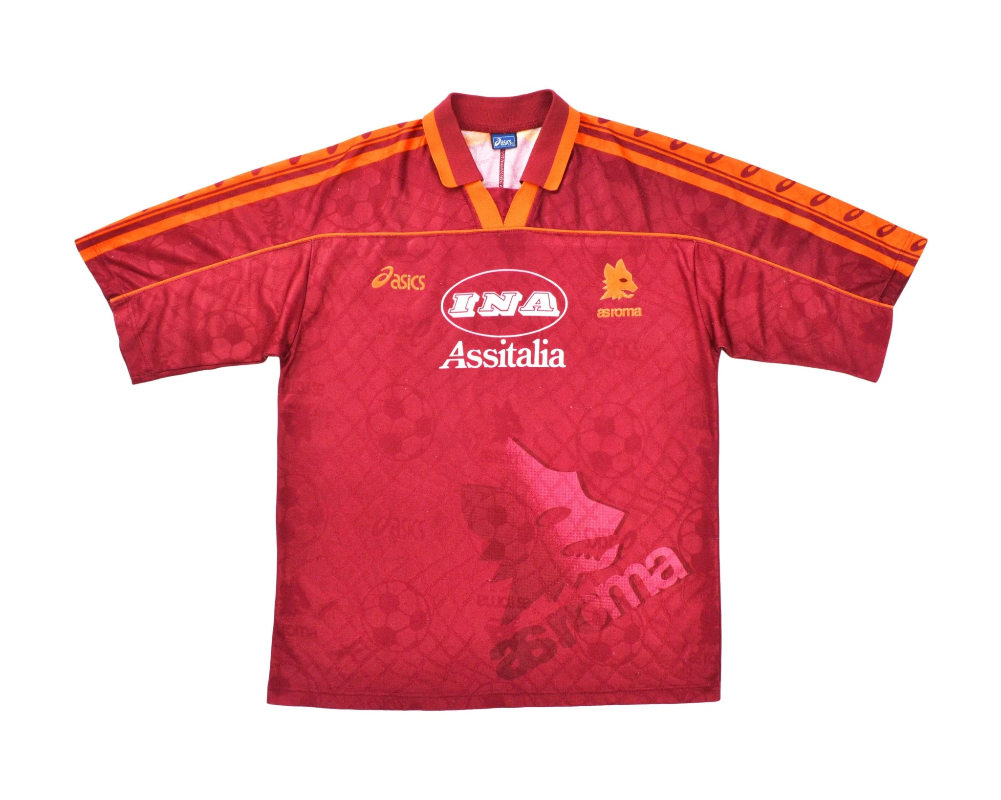 Roma 95/96 Home Soccer Jersey