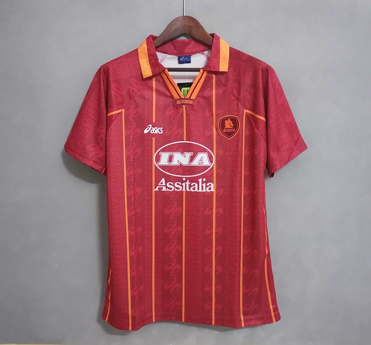 Roma 96/97 Home Soccer Jersey