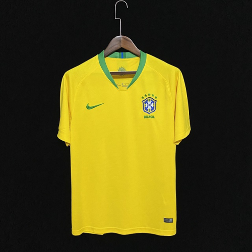 Brazil 2018 World Cup Home Soccer Jersey