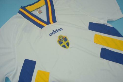 Sweden 1994 World Cup Away Soccer Jersey