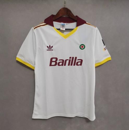 Roma 91/92 Away White Soccer Jersey