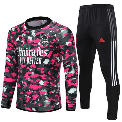Arsenal 21/22 Tracksuit - Pink/Black