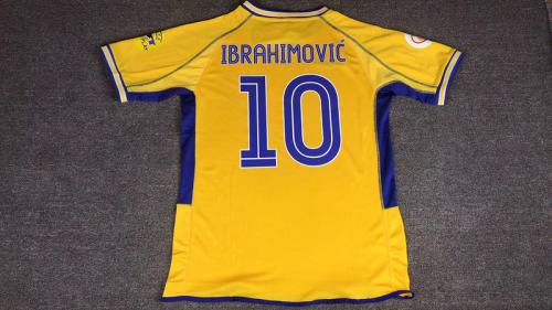 Sweden 2004 EuroCup Home Soccer Jersey