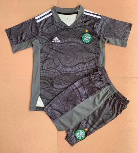 Kids-Celtic 21/22 GK Black Soccer Jersey