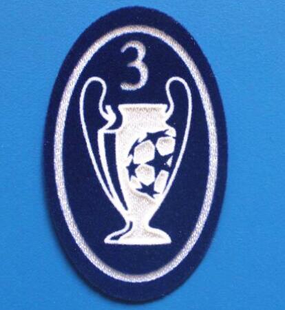 UCL 3 Trophy Retro Patch