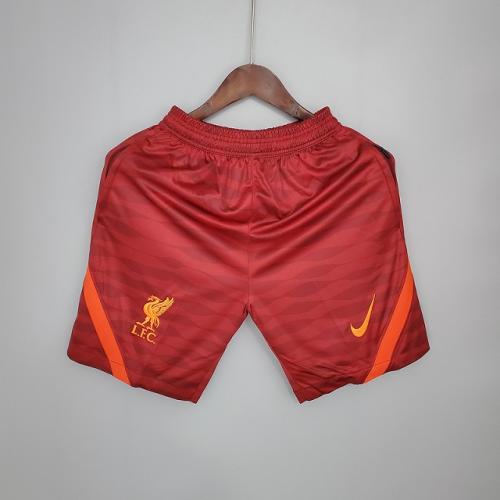Liverpool 21/22 Dark Red Training Soccer Shorts