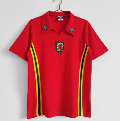 Wales 1970 Home Soccer Jersey
