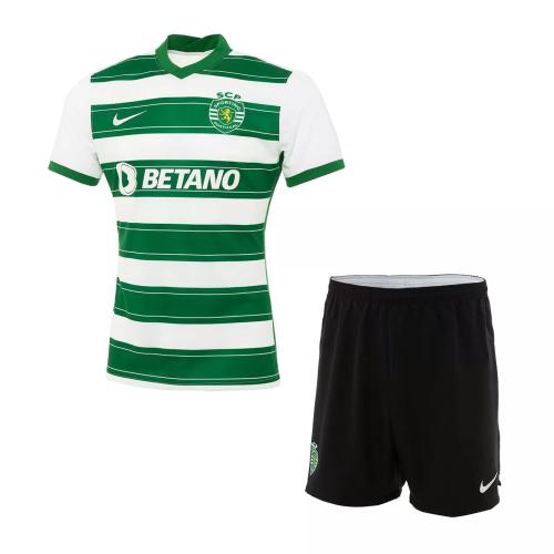 Kids-Sporting Lisbon 21/22 Home Soccer Jersey
