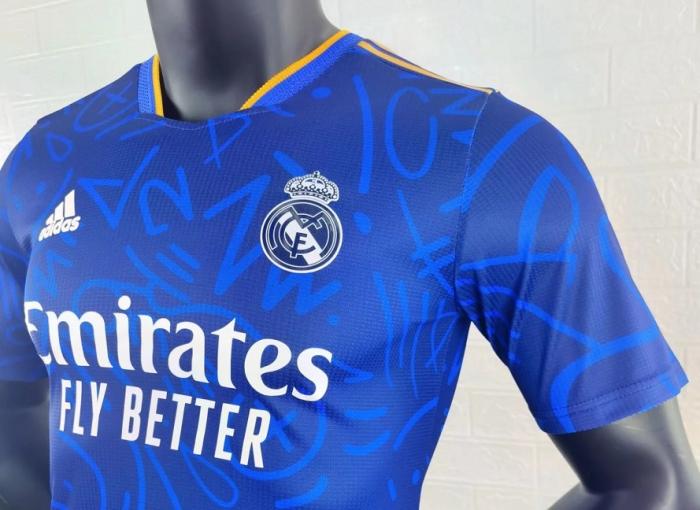 Real Madrid 21/22 Away Dark Blue Jersey(Player)