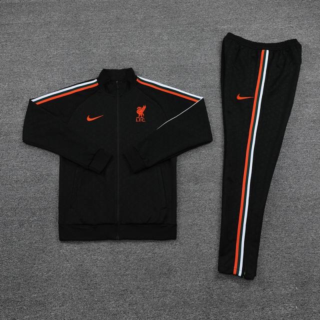 Liverpool 21/22 Tracksuit - Black/Orange