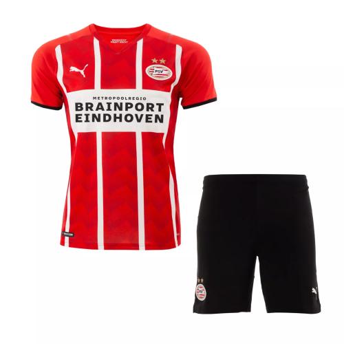 Kids-PSV 21/22 Home Soccer Jersey