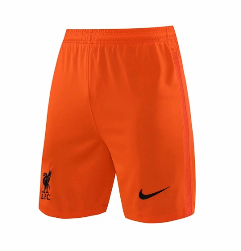 Liverpool 21/22 GK Orange Soccer Shorts