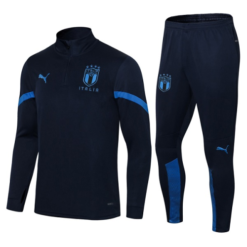 Italy 21/22 Tracksuit - Navy Blue