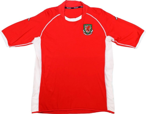 Wales 2002 Home Retro Soccer Jersey