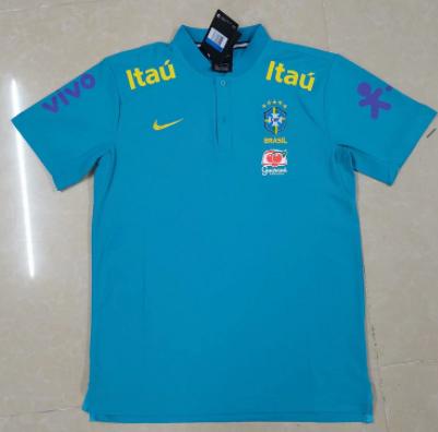 Brazil 21/22 Blue Polo Shirts