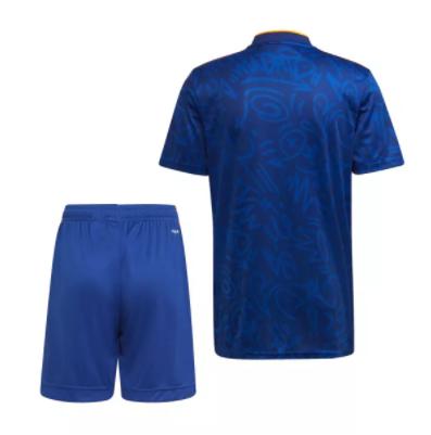 Kids-Real Madrid 21/22 Away Dark Blue Soccer Jersey