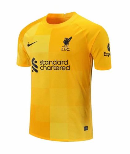 Liverpool 21/22 GK Yellow Soccer Jersey
