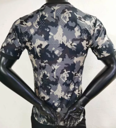 2021-2022 player version Juventus camouflage jersey-black