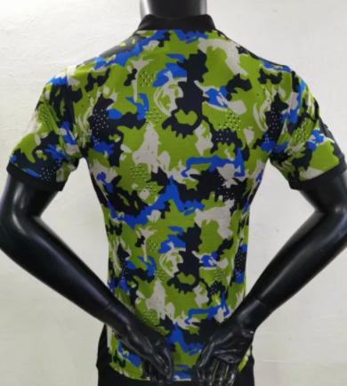 2021-2022 player version Juventus camouflage jersey-green