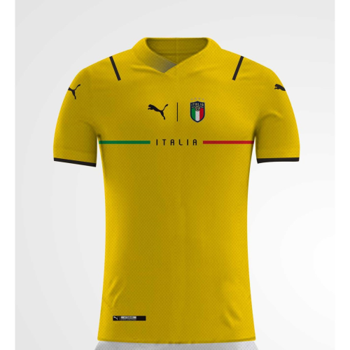 Italy 21/22 GK Yellow Soccer Jersey(Player)
