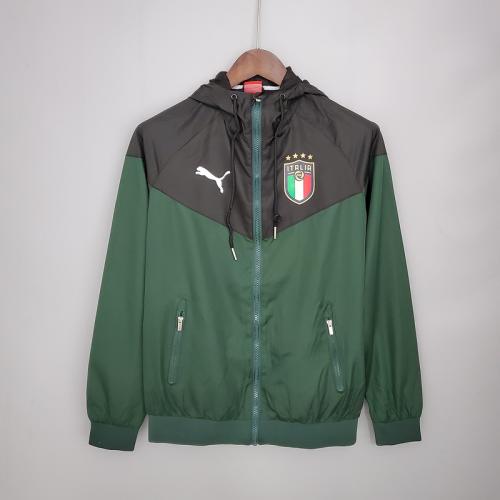 Italy 21/22 Wind Coat - Black/Green
