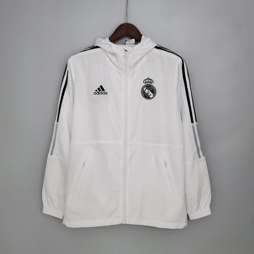 Real Madrid 21/22 Wind Coat - White